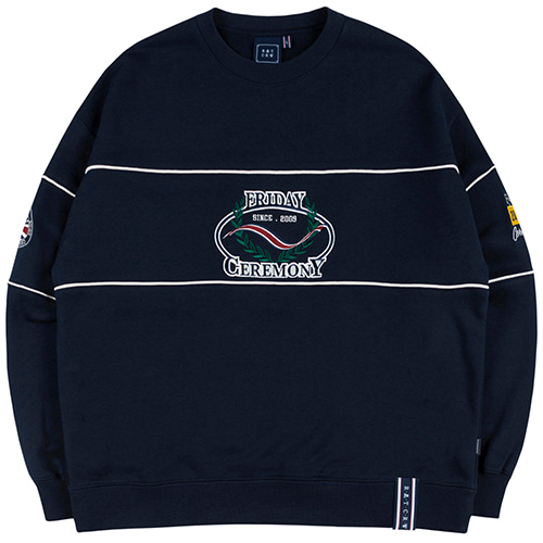 FRIDAY PIPING SWEAT SHIRT_NAVY