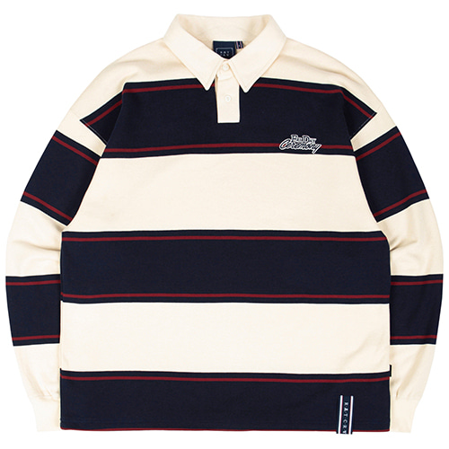 STRIPED POLO SHIRT_OATMEAL