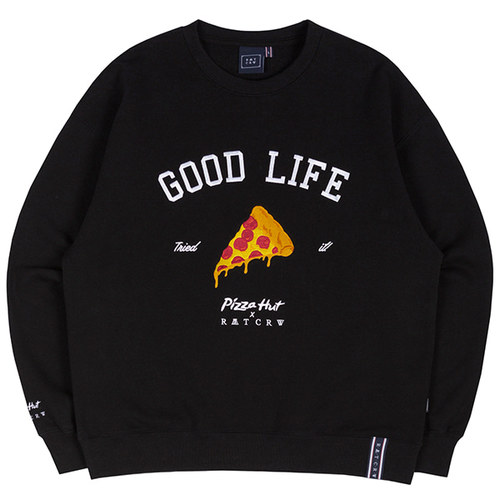 [PIZZAHUT X RMTCRW]GOOD LIFE SWEAT SHIRT_BLACK