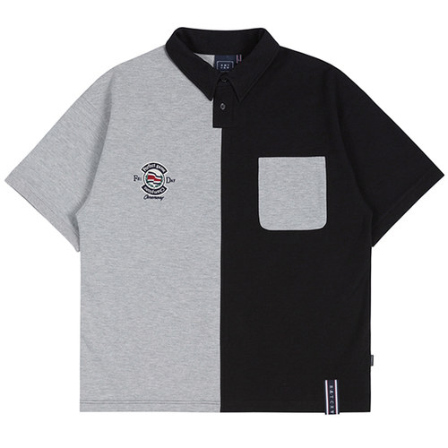 PERFECT GAME HALF POLO SHIRT_BLACK