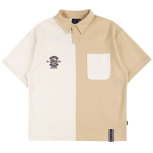 PERFECT GAME HALF POLO SHIRT_BEIGE