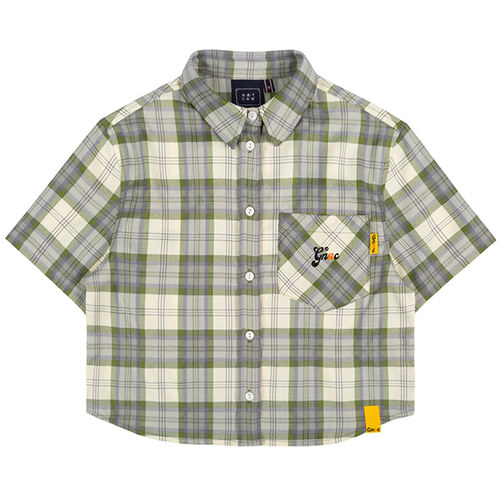 GNAC CHECK HALF SHIRT_GREEN