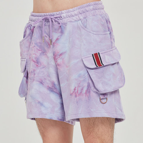 FRIDAY TIE DYE SHORTS_PURPLE