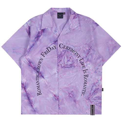 ARCH LOGO TIE DYE SHIRT_PURPLE