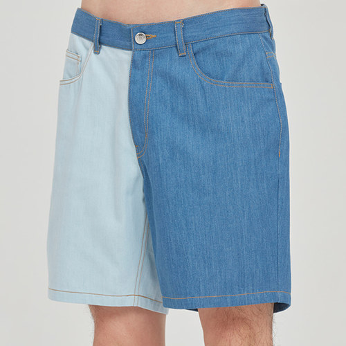 TONE ON TONE COTTON SHORTS_BLUE