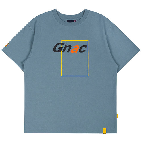 GNAC FRAME LOGO TEE_LIGHT BLUE