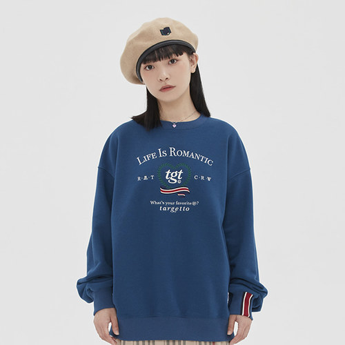 [TGT X RMTCRW]HEART RAUREL SWEAT SHIRT_BLUE