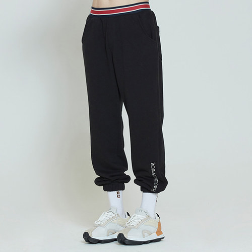STRIPE BANDING JOGGER PANTS_BLACK