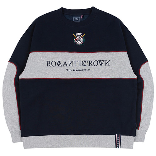 PADDLING LOGO PIPING SWEATSHIRT_NAVY
