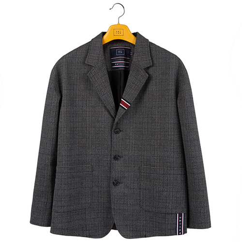 PLAID CHECK JACKET_CHARCOAL