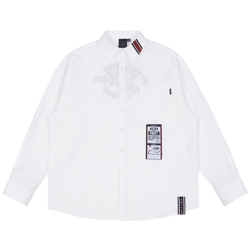 LUGGAGE TAG SHIRT_WHITE