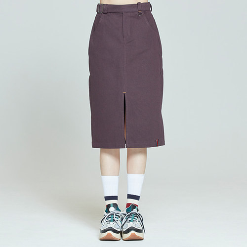 FRONT PLACKET SKIRT_PURPLE