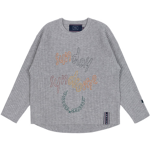SUNDAY SYNDROME SCRIBBLE LOGO KNITWEAR_GREY