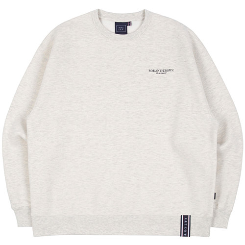 RMTCRW SLOGAN SWEAT SHIRT_MELANGE IVORY