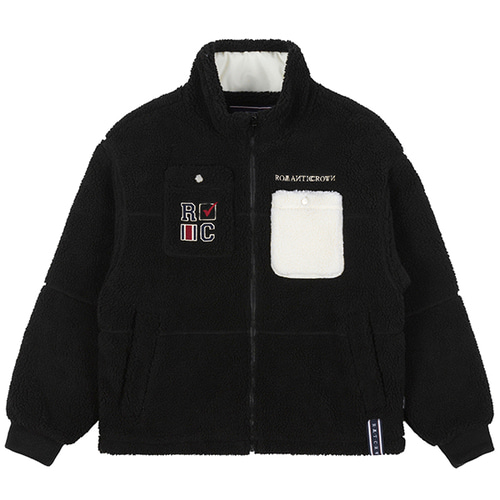 HEAVY FLEECE POCKET PARKA_BLACK