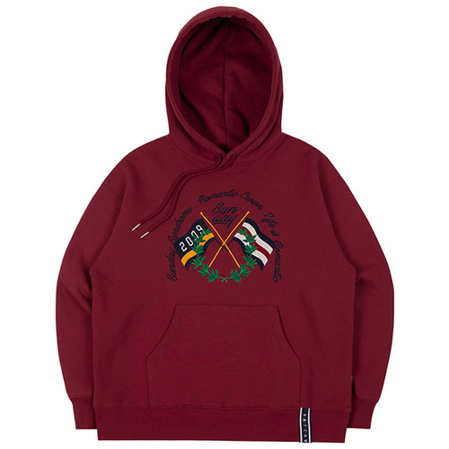 SUNDAY SYNDROME FLAG HOODIE_BURGUNDY