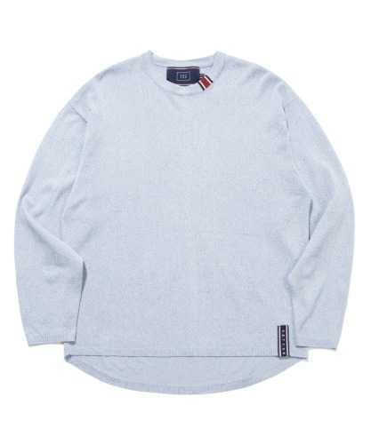 BASIC KNIT LONG SLEEVES_MELANGE SKY BLUE