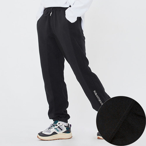 REVERSE STITCH SWEAT PANTS_BLACK