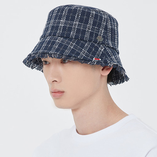 TWEED BUCKET HAT_NAVY