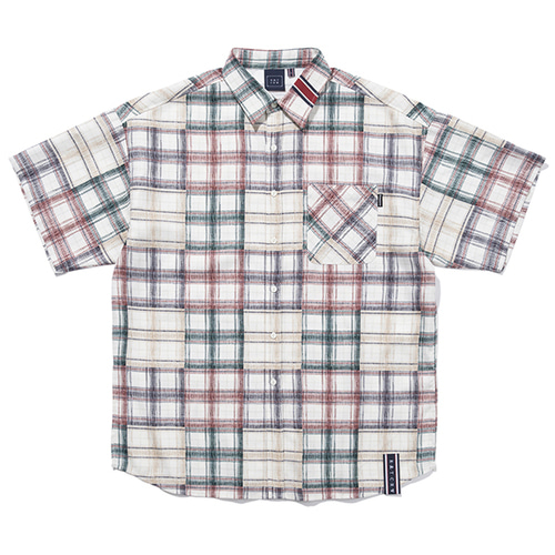MULTI COLOR CHECK SHIRT_OATMEAL