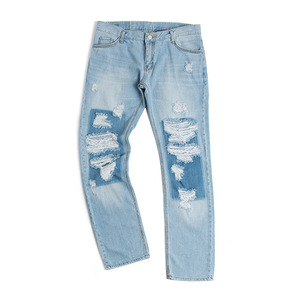 ATTACH DAMAGE PANTS_BLUE