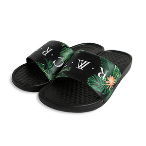 TROPICAL SLIPPER_BLACK