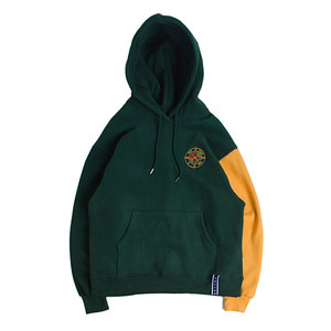 Color Block Wide Hoodie_Green