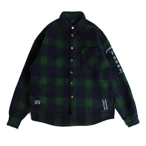 Forever Young Check Shirt Jacket_Green