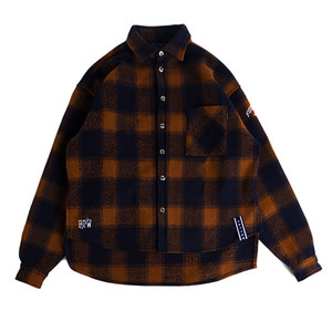 Forever Young Check Shirt Jacket_Orange
