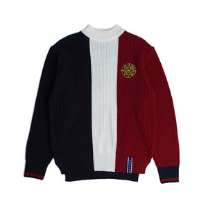 Color Block Knit_Navy
