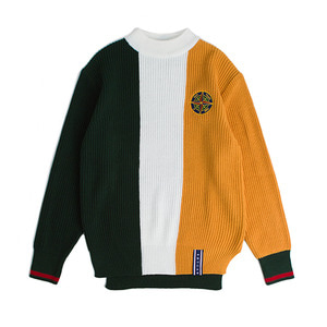 Color Block Knit_Green