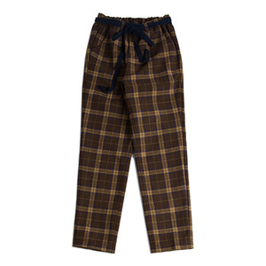 Twine check pants_Brown