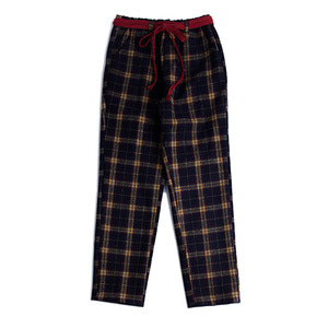 Twine check pants_Navy