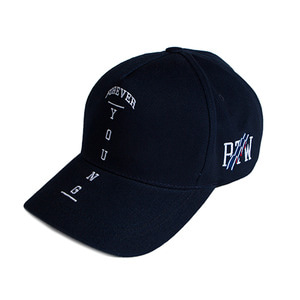 Forever Young Cross Ball Cap_Navy