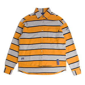 Stripe Cotton Shirt_Mustard
