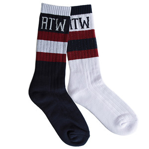 RTW COLOR BLOCK SOCKS_WHITE