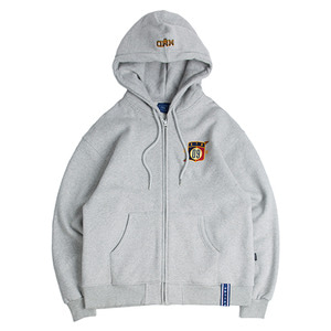 Ceremony Tape Hood Zip Up_Grey