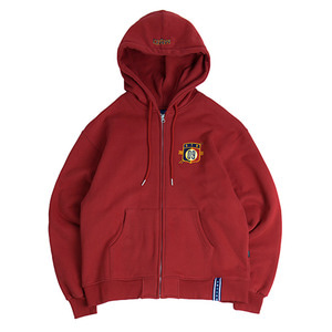 Ceremony Tape Hood Zip Up_Burgundy