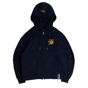 Ceremony Tape Hood Zip Up_Navy