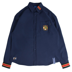Striped Cuffs Shirt_Navy