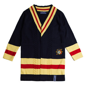 Band Line Knit Cardigan_Navy