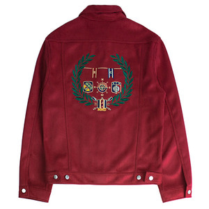 Suede Patch Jacket_Burgundy