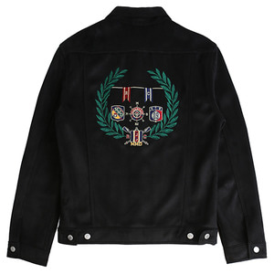 Suede Patch Jacket_Black