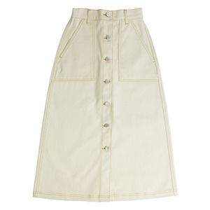 Cotton Long Skirt_Beige