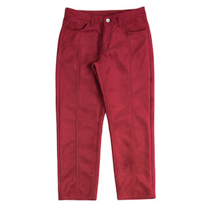 Suede Pants_Burgundy