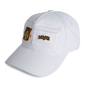 Double Pocket Ball Cap_White