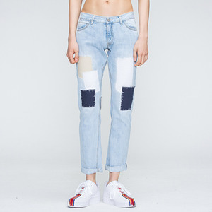 Light Blue Patchwork Pants