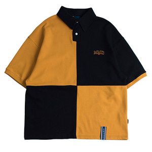 Quarter Block Half Polo_Mustard