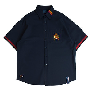 Stripe Half Shirts_Navy