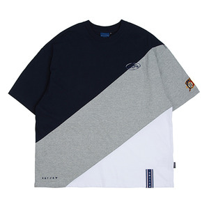 Division Color Block T Shirt_Grey